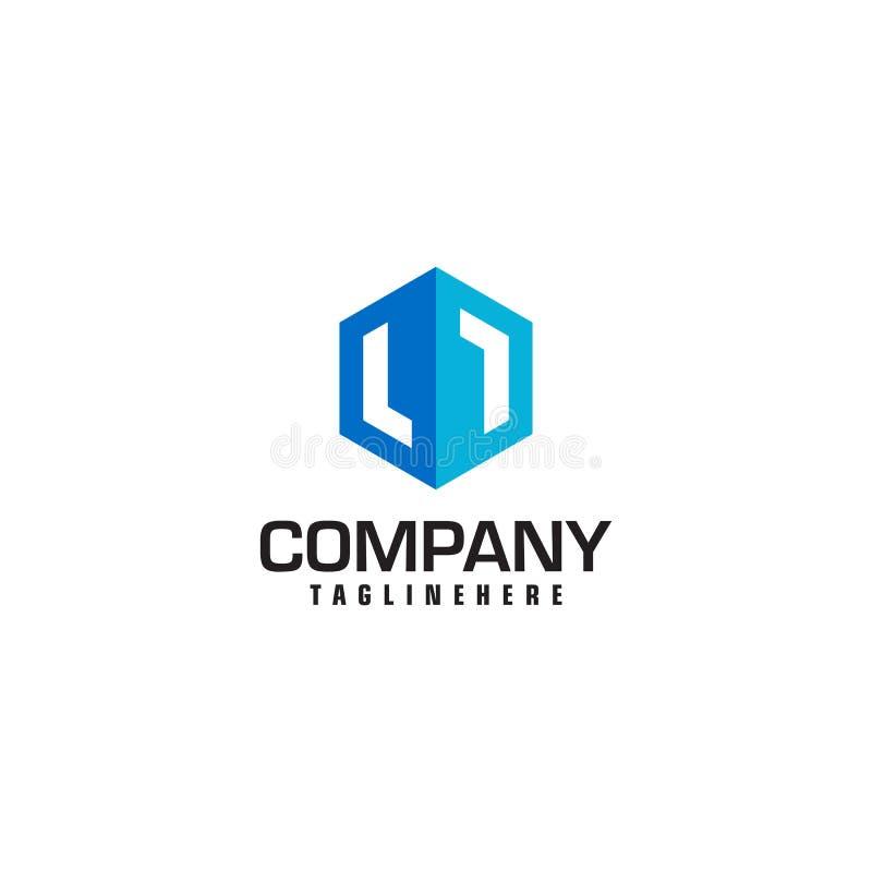 Form för sexhörning för mall för vektor för Real Estate logodesign stock illustrationer