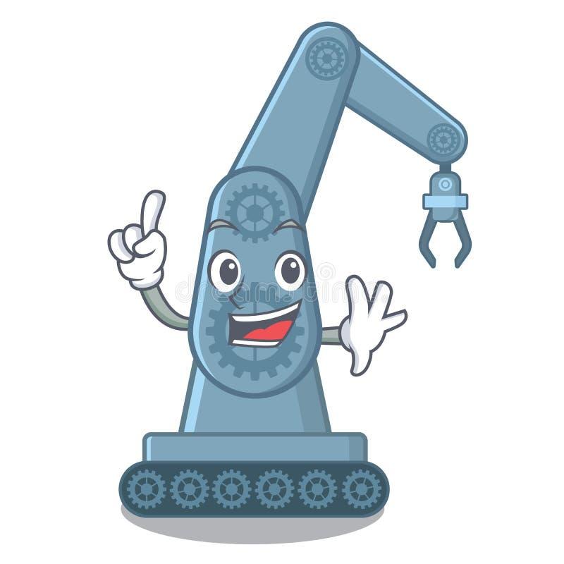 Form för tecknad film för arm för robot för fingerleksak mechatronic royaltyfri illustrationer