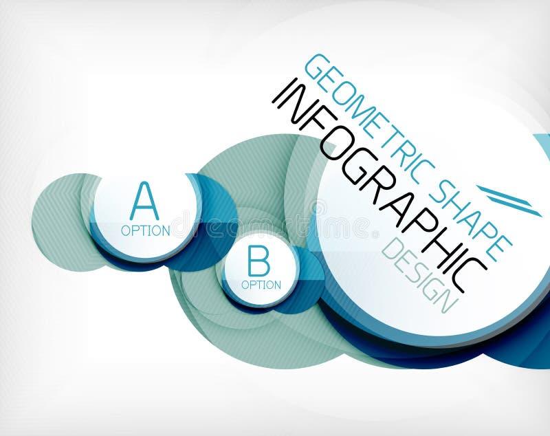 Form-Informationshintergrund des glatten Kreises geometrischer lizenzfreie abbildung