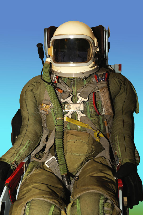 Form a military pilot. Mannequin in an jumpsuit of a military pilot stock image