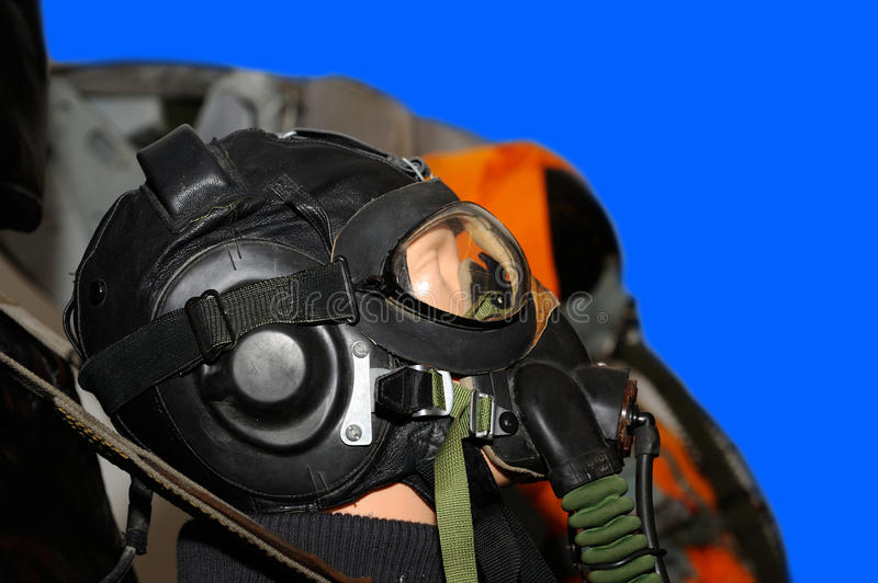 Form a military pilot. Mannequin in an jumpsuit of a military pilot stock photography