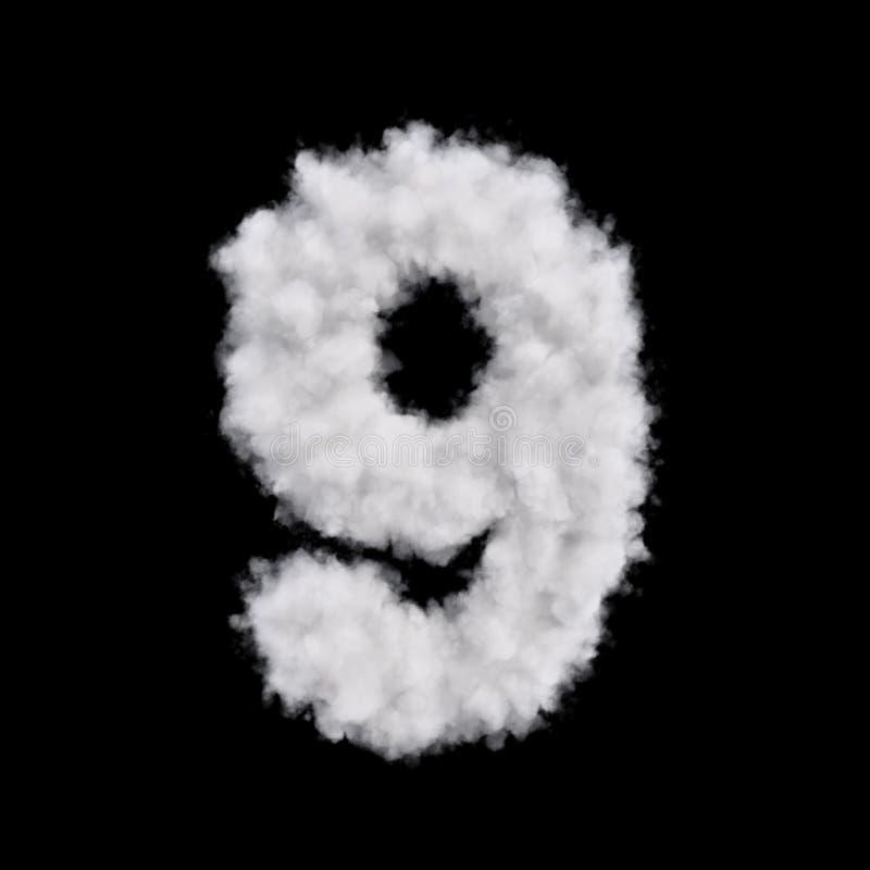 Form mit neun Wolken lizenzfreie abbildung