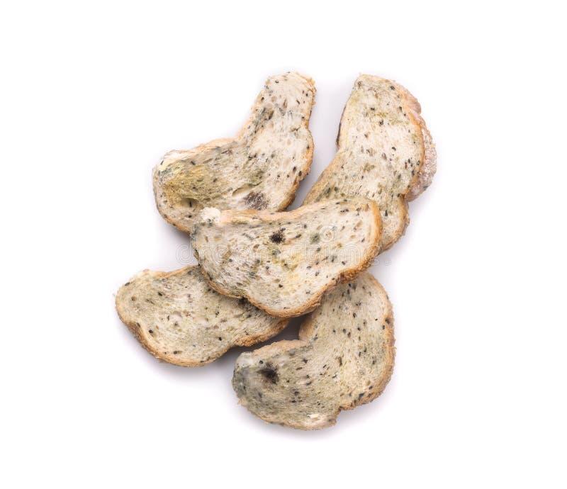 Form på bröd som isoleras på vit Top beskådar royaltyfri foto