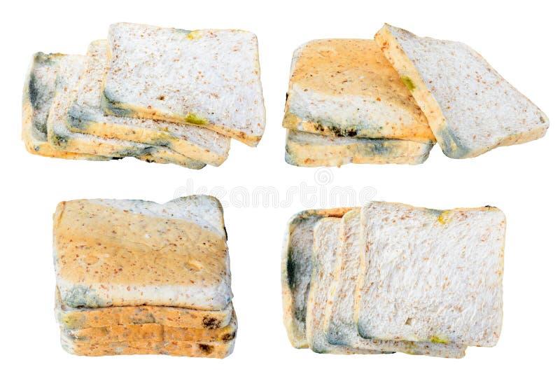 Form på isolerat bröd som förfallas royaltyfri fotografi