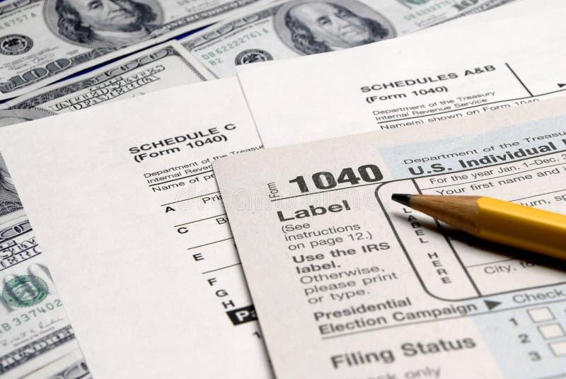 form pieniądze podatku wierzchołek zdjęcia royalty free