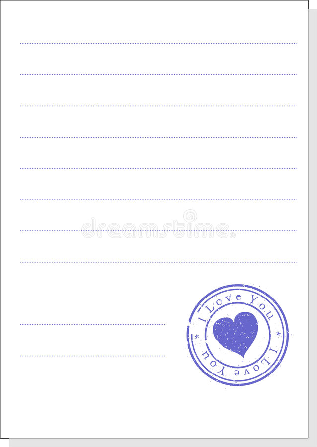 The form with a stamp. A illustration. Isolated vector illustration