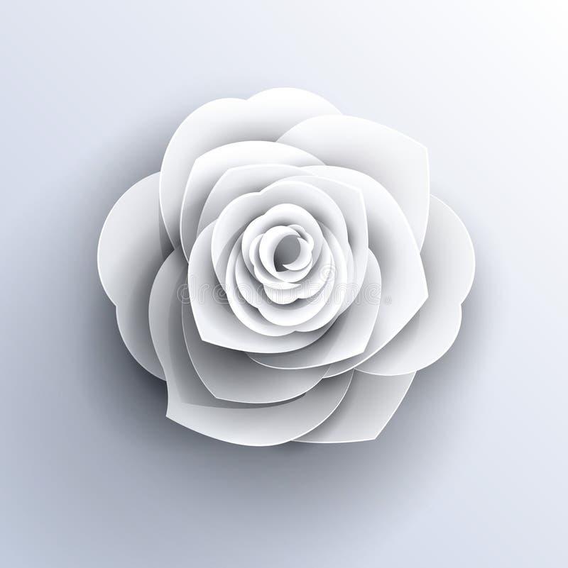 Form-Vektororigami des Blumenlogos rosafarbener vektor abbildung