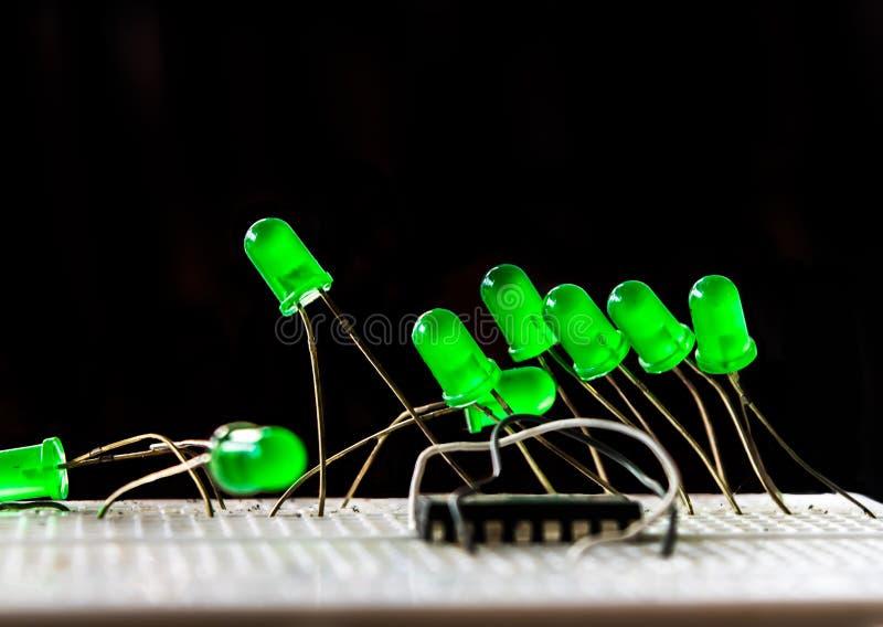 Form von LED lizenzfreie stockfotos