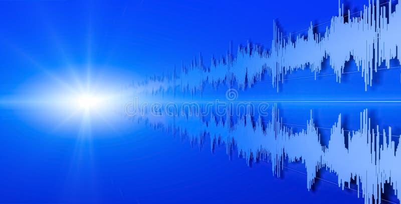 Form von Schallwellen lizenzfreies stockbild