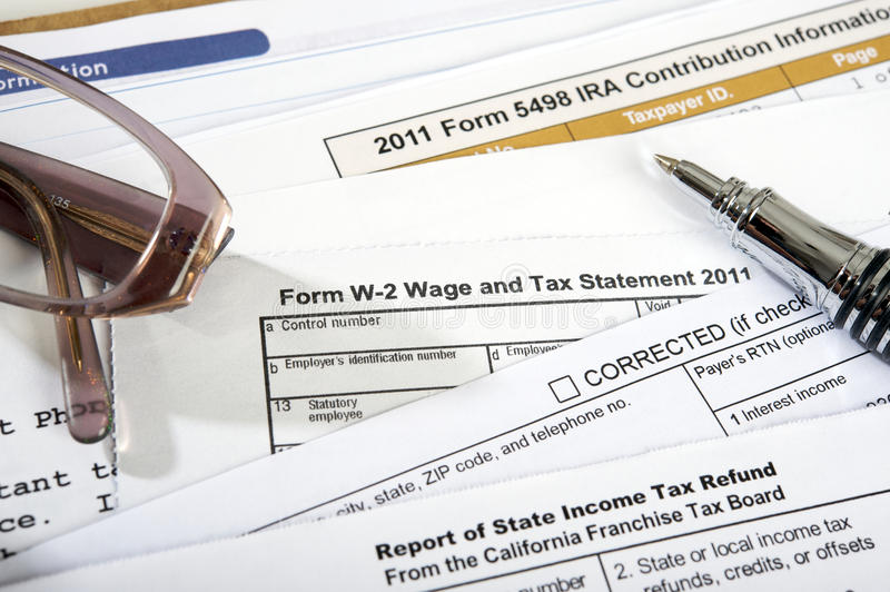 Form W-2 Wage And Tax Statement 2011 Royalty Free Stock Image