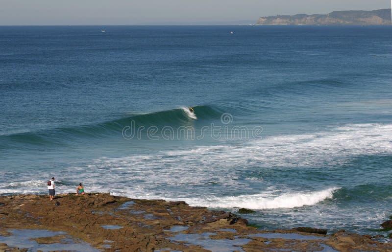 Formação da praia de Newcastle imagens de stock