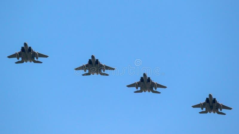 Formação de avião de combate imagens de stock royalty free