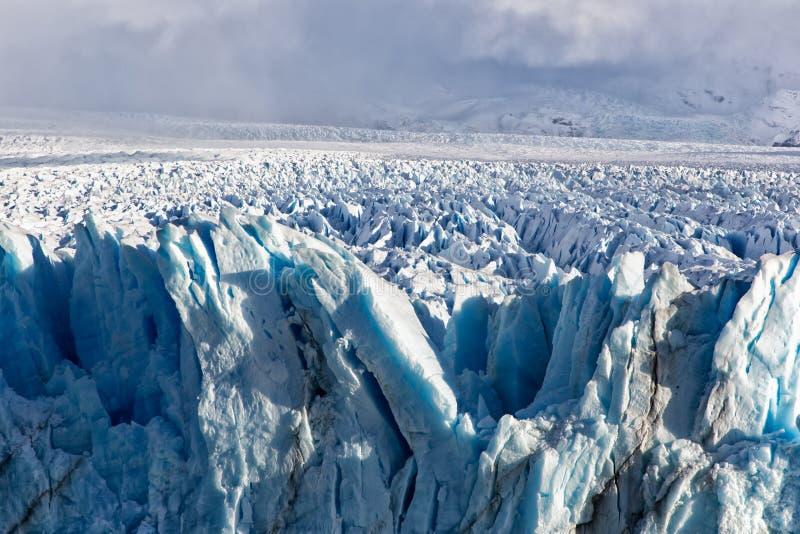 Formação de gelo azul em Perito Moreno Glacier, Argentino Lake, Patagonia, Argentina imagens de stock