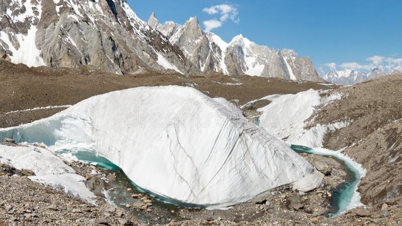 Formação de gelo da geleira de Baltoro foto de stock royalty free