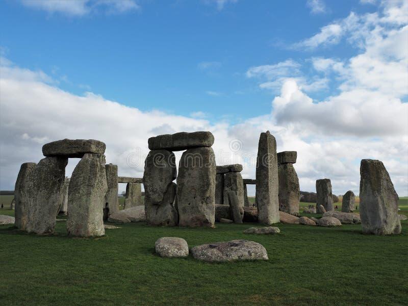 A formação de pedra antiga em Stonehenge imagens de stock