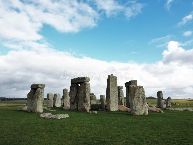 A formação de pedra antiga em Stonehenge foto de stock royalty free