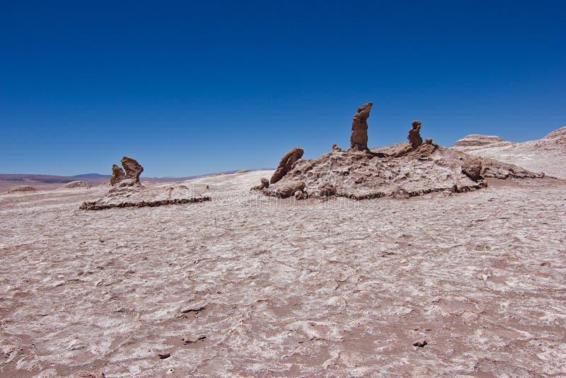 Formação de pedra de Las Tres Marias no deserto do Chile/Atacama fotografia de stock