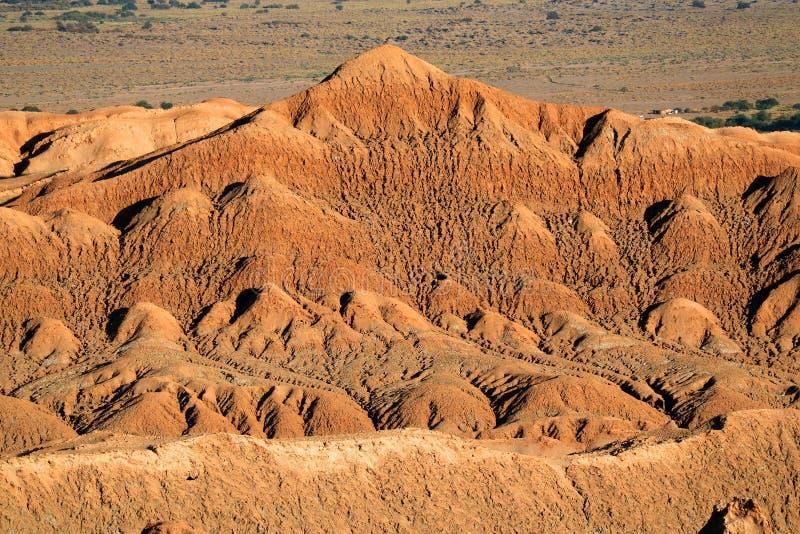 Formação de pedra surpreendente no la Luna de Valle de do vale da lua no deserto de Atacama, San Pedro Atacama, o Chile foto de stock royalty free