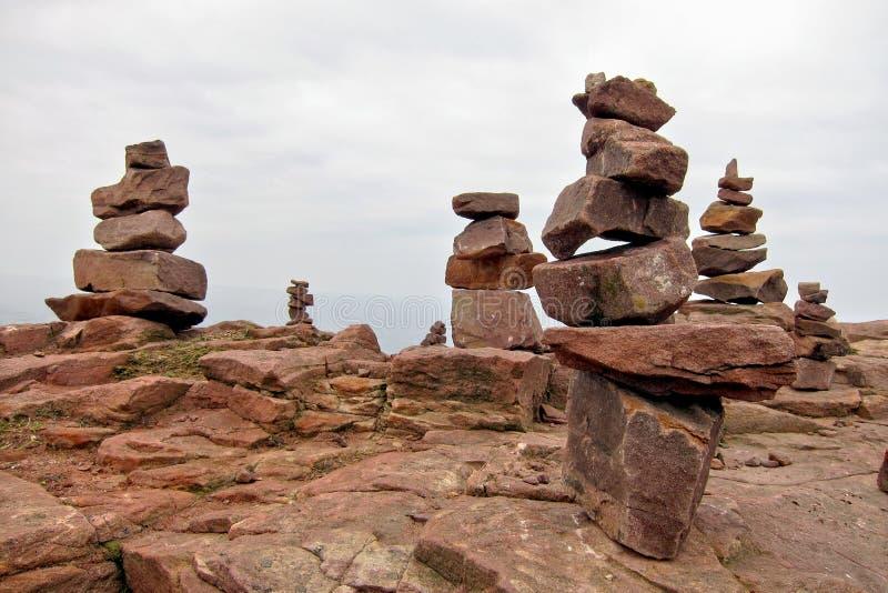 Formação de pilha da pedra da rocha do granito fotografia de stock royalty free