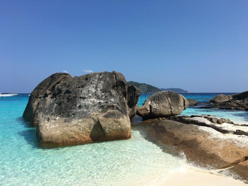 Formação de rocha da ilha de Similan fotos de stock