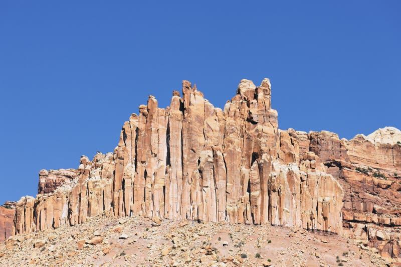 A formação de rocha do castelo foto de stock royalty free