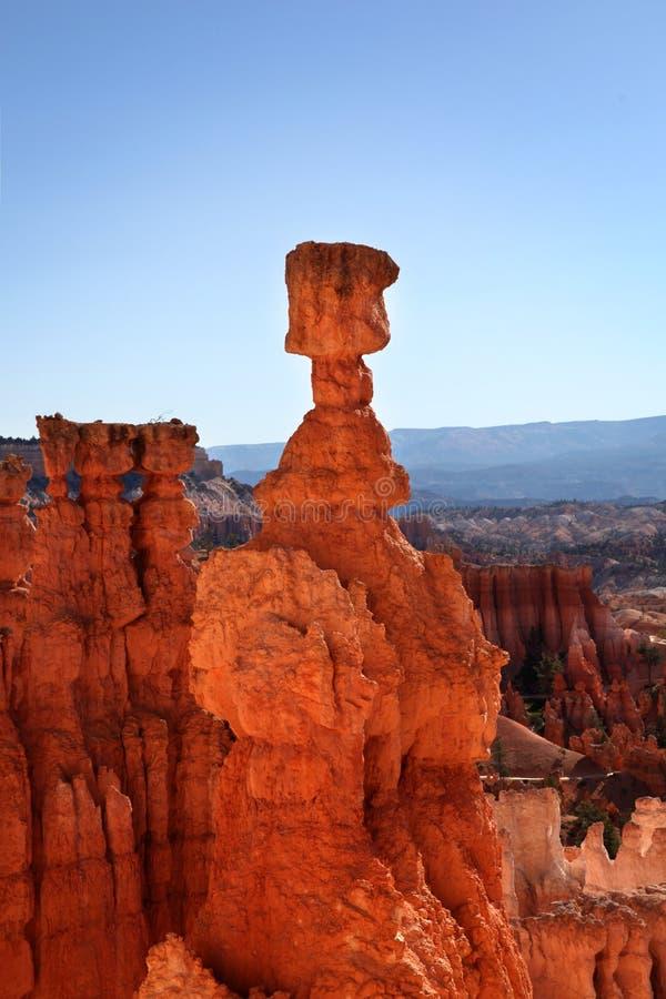 Formação de rocha do martelo do ` s do Thor em Bryce Canyon National Park foto de stock royalty free