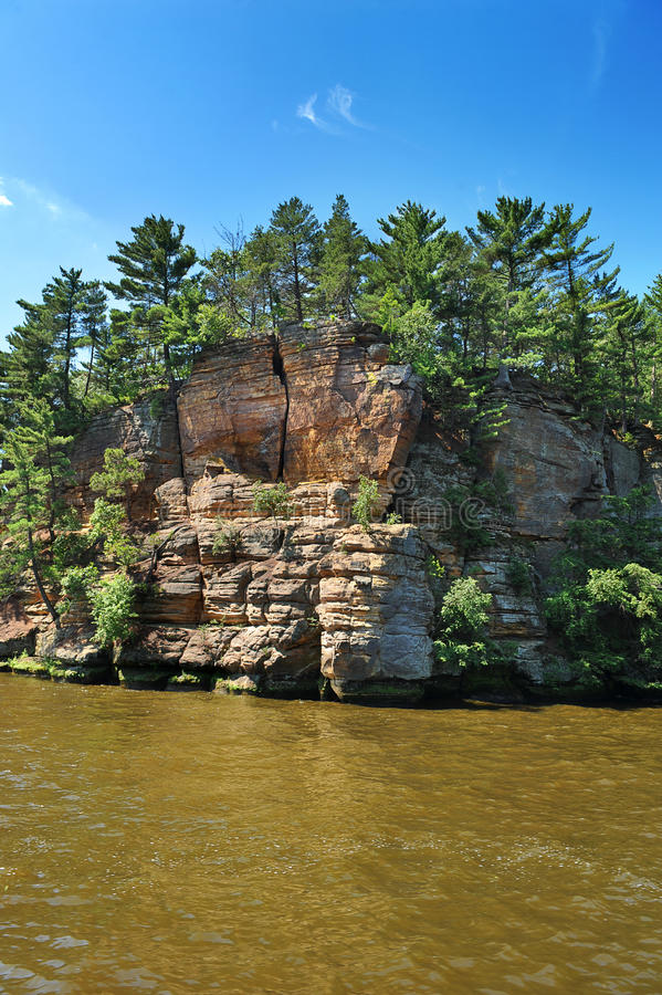Formação de rocha nos Dells de Wisconsin fotos de stock