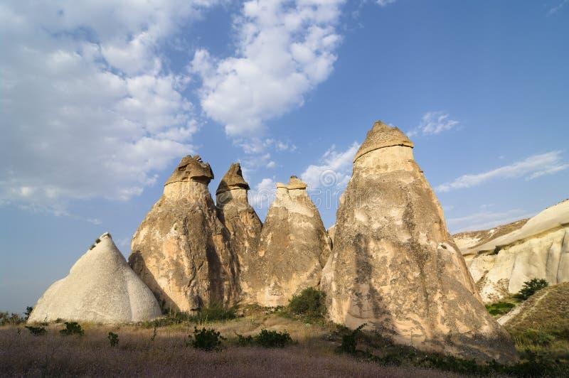 Formação de rocha Pasabagi Cappadocia, Turquia imagens de stock