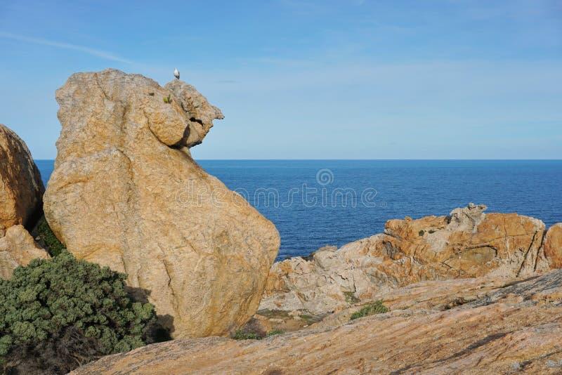 Formação de rocha Tampão de Creus Espanha Costa Brava imagens de stock