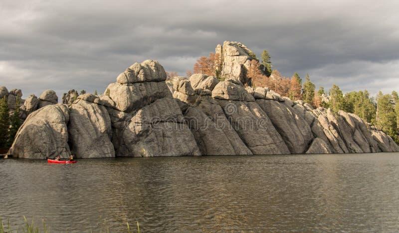 Formação de Sylvan Lake foto de stock