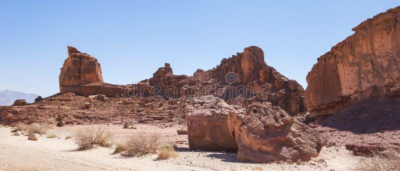 Formação do arenito no parque de Timna em Israel do sul foto de stock
