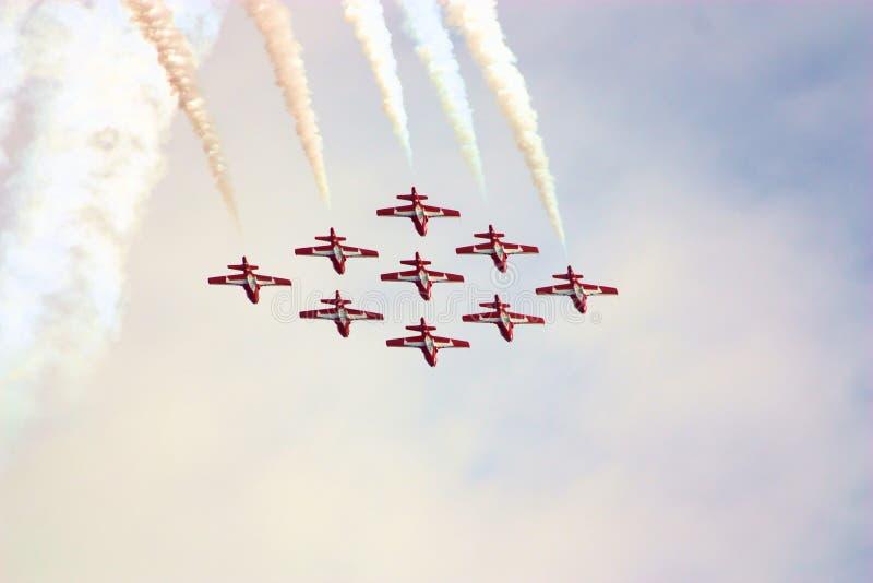 Formação dos Snowbirds do â da mostra de ar fotografia de stock royalty free
