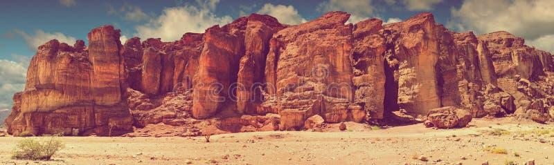 Formação Geological - colunas do rei Solomon, parque de Timna, Israel fotos de stock