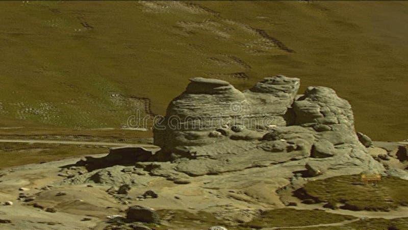 A formação geological da esfinge video estoque