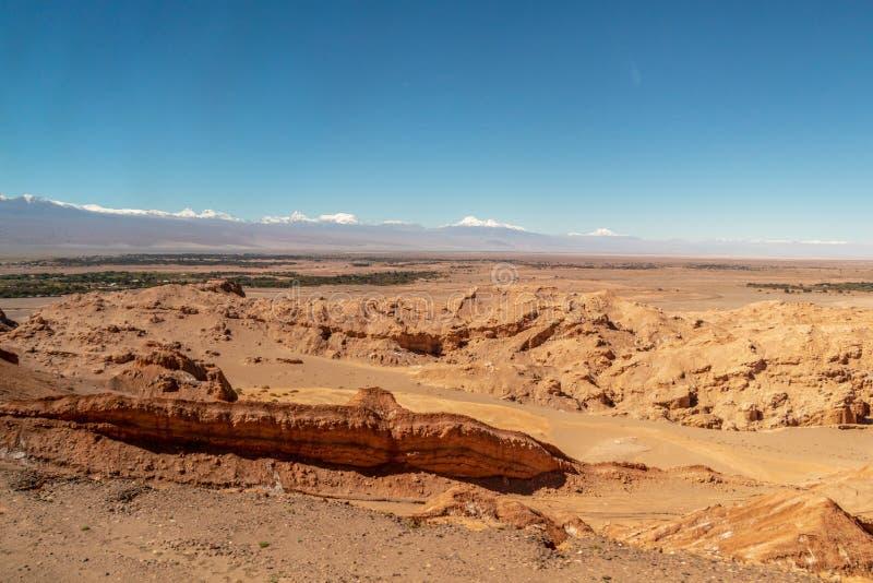 Formação Geological no la Luna Valley da lua, área seca extrema de Valle de no deserto de Atacama, o Chile imagens de stock