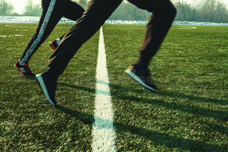 Formação no futebol arquivado imagem de stock royalty free