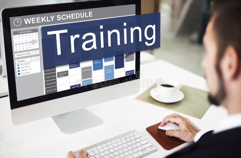 Formação treinando o conceito do desenvolvimento da tutoria imagem de stock royalty free