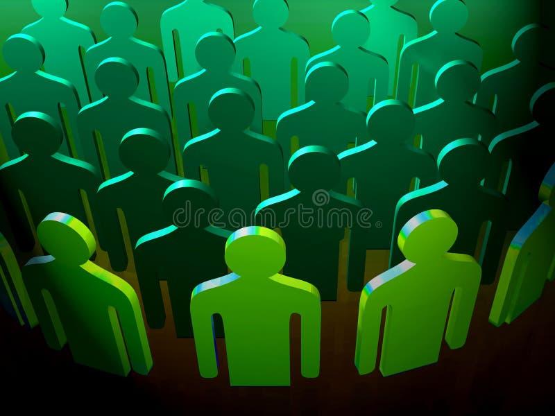 Formação verde dos povos ilustração do vetor
