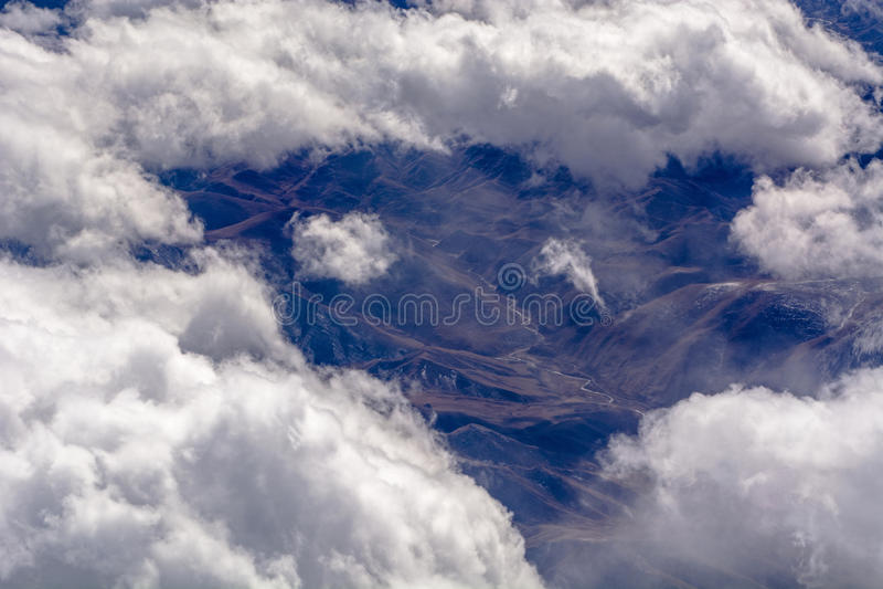 Formações aéreas da nuvem fotografia de stock royalty free