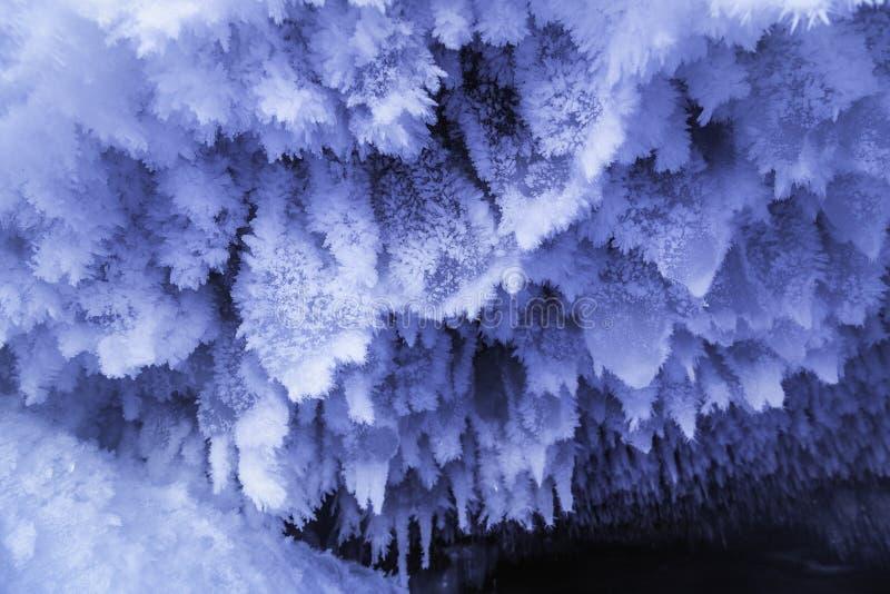 Formações de gelo da caverna imagens de stock royalty free