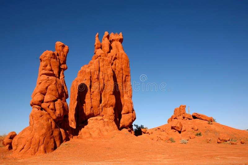 Formações de rocha do deserto no vale o Arizona do monumento fotos de stock royalty free