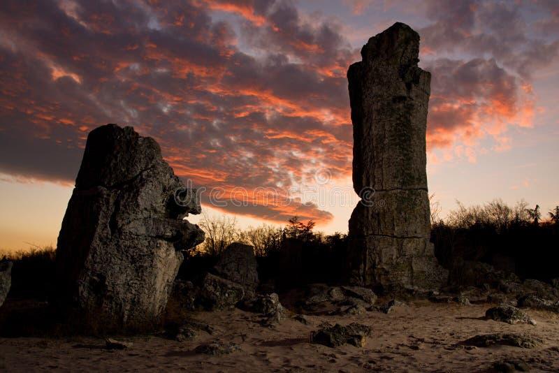 Formações de rocha do fenômeno fotografia de stock
