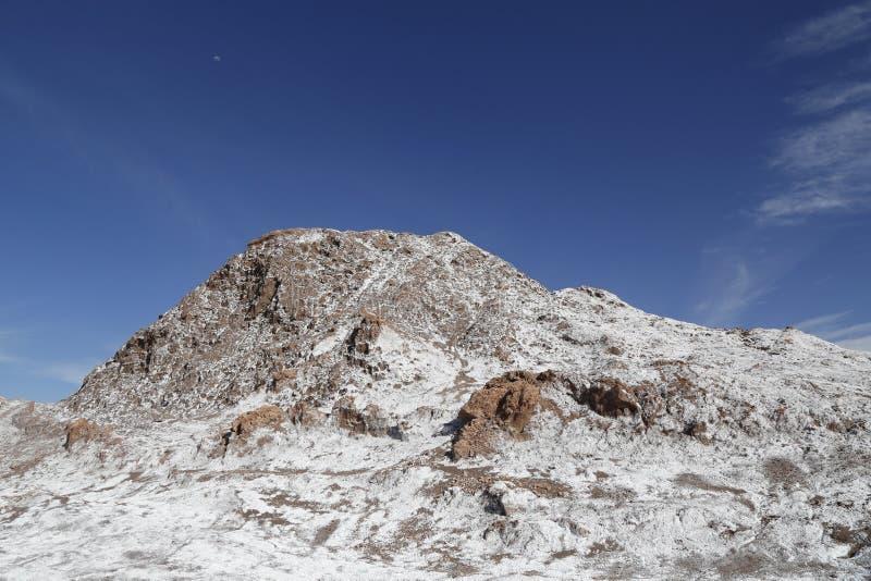 Formações de rocha do vale da lua, deserto de Atacama, o Chile foto de stock royalty free