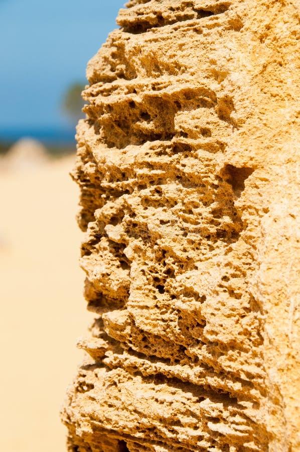 Formações de rocha dos pináculos na Austrália Ocidental fotos de stock