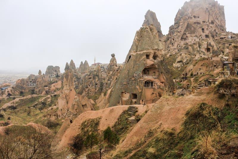 Formações de rocha em Cappadocia, Anatolia, Turquia imagem de stock royalty free