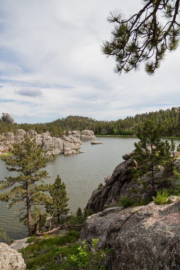 Formações de rocha em Sylvan Lake imagens de stock
