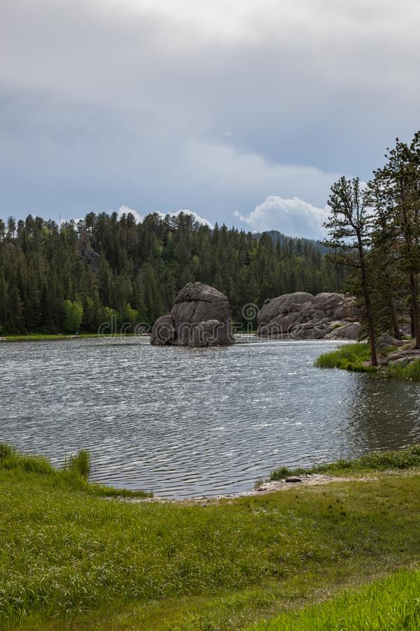 Formações de rocha em Sylvan Lake foto de stock