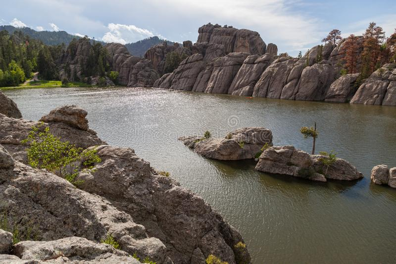 Formações de rocha em Sylvan Lake fotos de stock