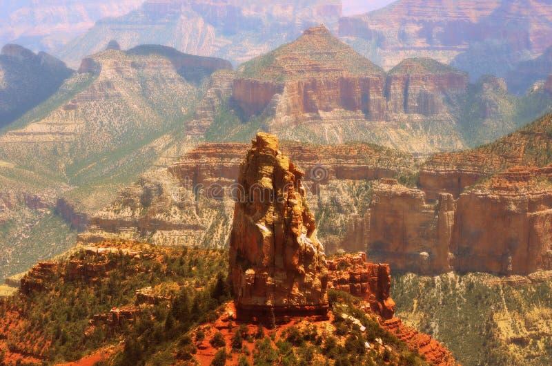 Formações de rocha na borda norte de Grand Canyon imagem de stock royalty free