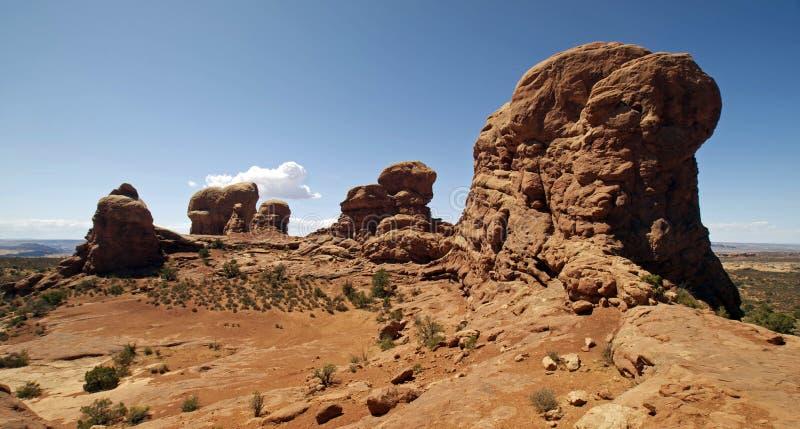 Formações de rocha no parque nacional dos arcos fotos de stock royalty free